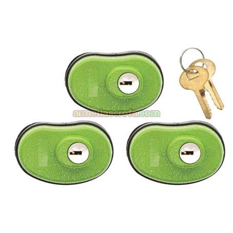 Candado de llave para armas Lockdwn pack 3 un. Lockdown Armeria Scrofa