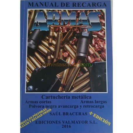 Manual de Recarga Armas y Municiones 4º Edición A. Izquierdo Armeria Scrofa