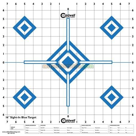 "Diana en papel 16"" x 16"" (10 Unid) Sight-in Blue Caldwell Armeria Scrofa"