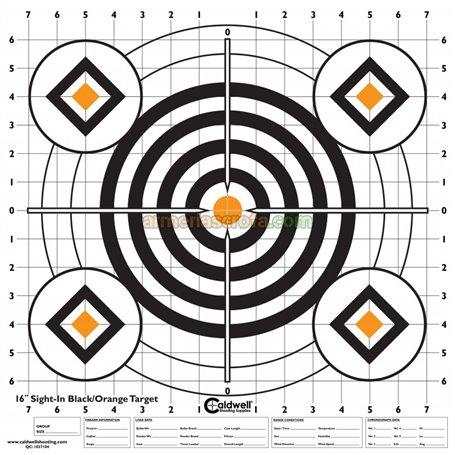 "Diana en papel 16"" x 16"" (10 Unid) Bullseye Caldwell Armeria Scrofa"