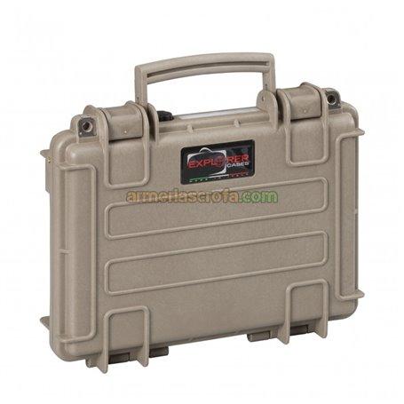 Maletin para pistola tierra, espuma lisa y corrugada en tapa Explorer Cases Armeria Scrofa