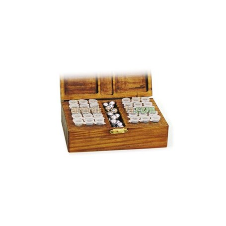 Caja de madera con 30 Tubos para pólvora. Headshot Armeria Scrofa